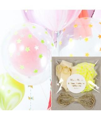 8-ballons-confettis-etoile-jaune-fluo