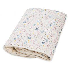 plaid-tapis-d'eveil-bébé-camcam-fleurs