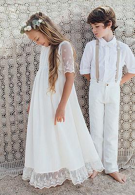 robe longue blanche les petites